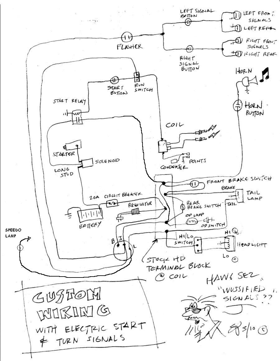 WiringShovel3 simplied shovelhead wiring diagram needed! wiring diagram for harley sportster at bayanpartner.co